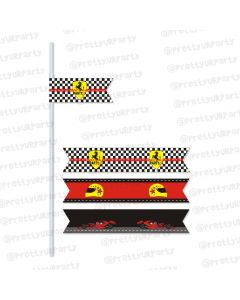 race car party theme drink straws