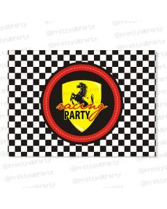race car party table mats