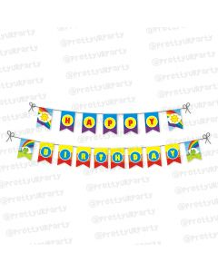 rainbow themed bunting