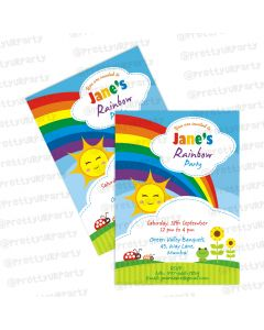 rainbow themed invitations