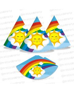 rainbow themed hats