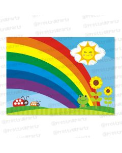 rainbow themed table mats