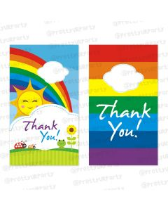 rainbow themed thankyou cards