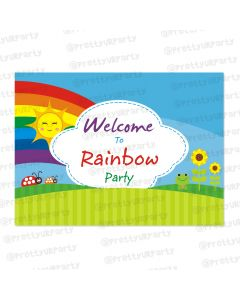 rainbow themed entrance banner / door sign