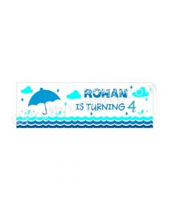 Personalized Monsoon Theme Banner 30in