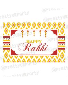 Red and Yellow Pattern Rakhi Theme Table Mats