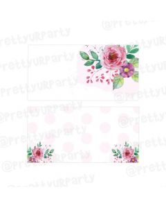 Pink and Green Floral Rakhi Food Labels