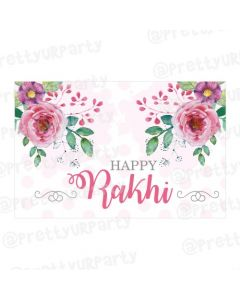 Pink and Green Floral Rakhi Theme Table Mats