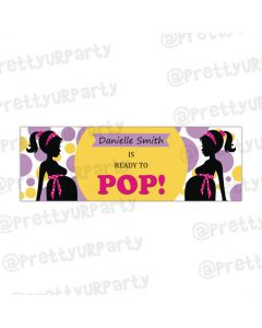 Personalized Ready To Pop Birthday banner