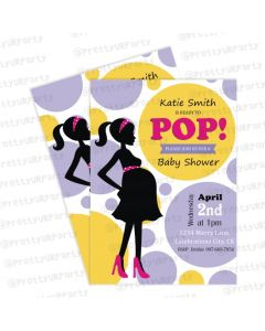 ready to pop invitations