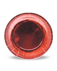 Red Metallic Paper Plates