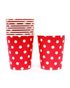 Red Polka Dots Paper Cups