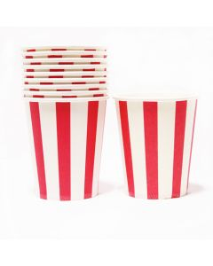 Red Stripes Paper Cups