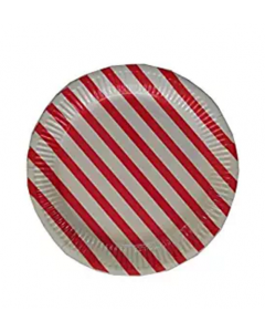 Red Stripes Paper Plates