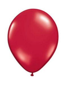 Red Metallic Latex Balloon