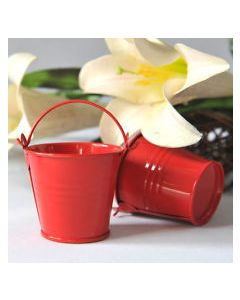 red small bucket favors