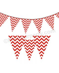 Red Chevron Bunting