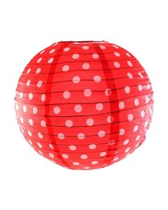 Red polka dots paper lamps