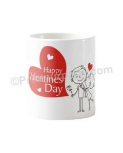 Happy Valentines Day Red Heart Mug