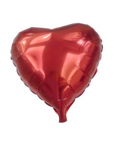 "red heart shaped 18"" foil balloon"