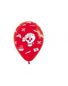 Pirate Latex Balloons - Red