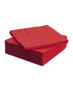 Plain Red Paper Napkins