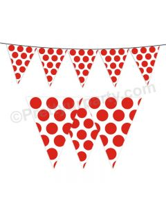 Red Polka Dots Bunting