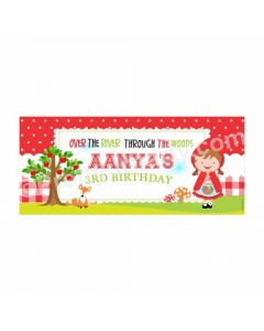 Personalized Little Red Riding Hood Theme Banner 30in