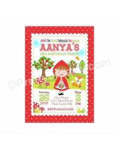 Little Red Riding Hood Theme Invitations