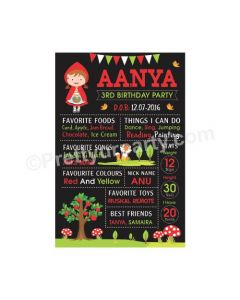 Little Red Riding Hood Theme Chalkboard Poster