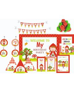 Little Red Riding Hood Party Decorations - 90 Pieces