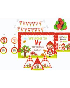 Little Red Riding Hood Decorations Package - 70 pieces