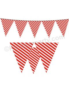 Red Stripes Bunting