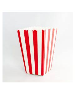 Red Stripes Popcorn Box