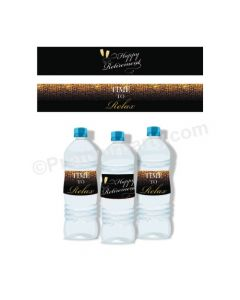 Retirement Theme Water Bottle Labels