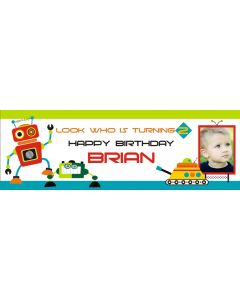 personalised robot banner