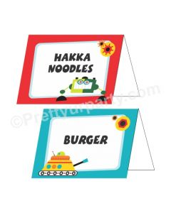 Robot Theme Food Labels / Buffet Table Cards