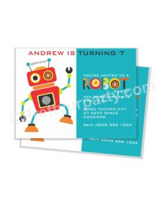 Robot Theme Invitations