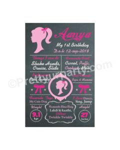 Barbie Theme Chalkboard Poster