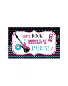 Girly Rockstar Theme Backdrop