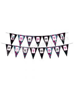 Girly Rockstar Theme Bunting