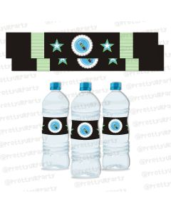 Rockstar Theme Water Bottle Labels