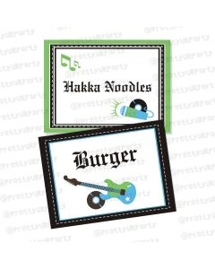 Rockstar Theme Food Labels / Buffet Table Cards