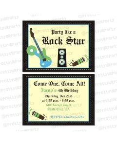 Rockstar Theme Invitations