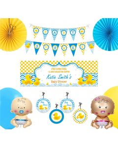 Rubber Ducky Baby Shower Decorations Package