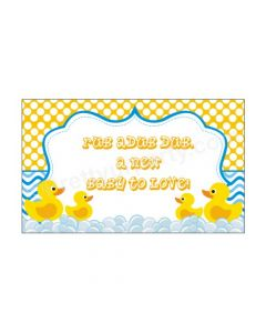 Rubber Duck Baby Shower Theme Backdrop
