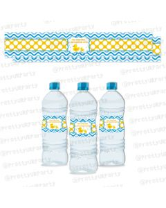 Rubber Ducky Water Bottle Labels