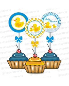 Rubber Ducky Cupcake / Food Toppers