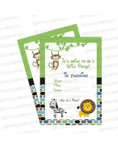 Safari Boy Invitations