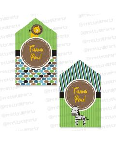 safari boy thankyou cards